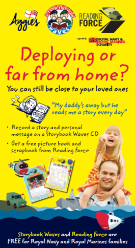 My daddy's away but he reads me a story every day… - Reading Force